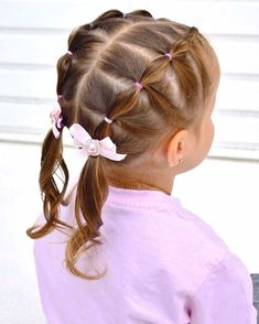 BH Toddler Hairstyles Girl for thin hair Easy Little Girl Hairstyles, Baby Girl Hairstyles, Cute Hairstyles, Black Hairstyles, Natural Hairstyles, Braided Hairstyles, Easy Toddler Hairstyles, Toddler Hair Dos, Hair Kids