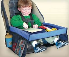 A unique and innovative product for families on the go. Snack & Play Travel Tray was created out of necessity for today's children. Snack & Play Travel Tray enhances the driving experience by providing a flat, safe area for children to eat and Kids Travel Games, Toddler Travel, Travel With Kids, Travel Ideas, Road Trip Activities, Road Trip Games, Road Trips, Travel Tray, Car Travel
