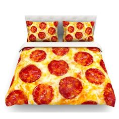 Pepperoni Pizza Bedding #ad