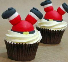 cupcakes santa