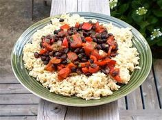 Moors and Christians (a.k.a. Spanish Black Beans and Rice)  (good what can I make with whats in the pantry meal.  I like to use chicken broth)