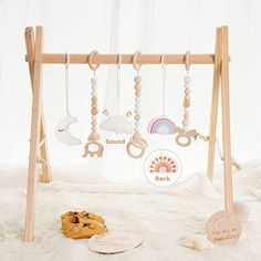 little dove Wood Baby Gym with 3 Wooden Baby Teething Toys Foldable Play Gym Frame Activity Gym Hanging Bar Baby Toy White Wood Baby Gym, Teething Toys, Baby Teething, Best Baby Car Seats, Baby Musical Toys, Baby Bath Toys, Hanging Bar, Play Gym, Natural Baby