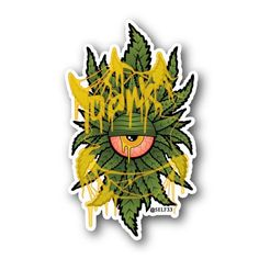 Dank Clops Sticker | Vinyl Stickers | Marijuana Stickers | Clear Stickers