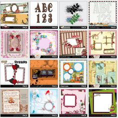 All the freebies by Aneczka Designs.