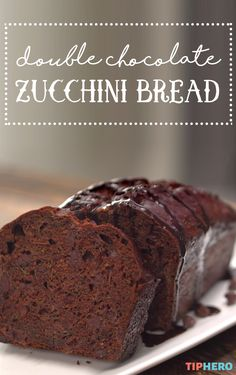 Don't let that zucchini go to waste when you could use it to bake up some double chocolate zucchini bread. So rich, so delicious you'll never know there's a healthy vegetable baked right in.... just like eating a salad, right?  Click for the video and how-to!