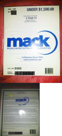 Other TV Video and Home Audio: Mack 5 Yr Tv Warranty In Home Service For Tvs Up To $1500 New 1404 BUY IT NOW ONLY: $108.0