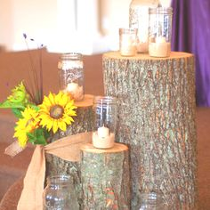 Country rustic wedding...I Just LOVE the wooden decor