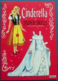 Cinderella Paper Dolls With Pushout Costumes By Ethel Hays Saalfield 1384