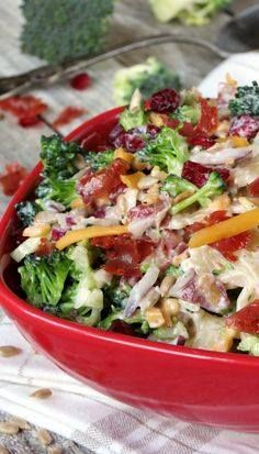 Broccoli Cranberry P Broccoli Cranberry Pasta Salad | Jovita |...  Broccoli Cranberry P Broccoli Cranberry Pasta Salad | Jovita | YummyAddiction.com Recipe : http://ift.tt/1hGiZgA And @ItsNutella  http://ift.tt/2v8iUYW