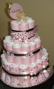 Resultado de imagem para bolo fralda menina