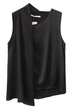 Black Charming Womens Sleeveless Irregular Chiffon Tank Top http://pinkqueen.com/Black-Charming-Womens-Sleeveless-Irregular-Chiffon-Tank-Top-g41022