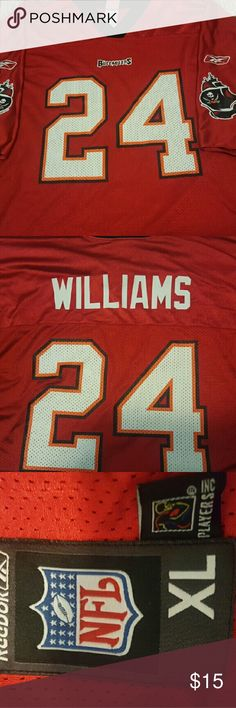 Cadillic Williams Jersey Tampa Bay Buccaneers #24 Cadillac William jersey. No snags or rips. Reebok Shirts