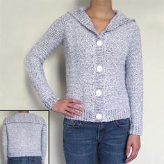 Classic cardigan sweater crochet pattern