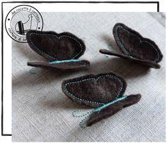 Je vous propose aujourd'hui de réaliser ces papillons en 3D, qui pourront décorer un coussin, un rideau, un tee-shirt... Vous trouverez dans le dossier à télécharger 2 motifs, les ailes de papillons