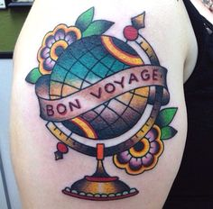 I love this, it's so colourful and I think I'd quite like a globe tattoo, however not so cartoon-y