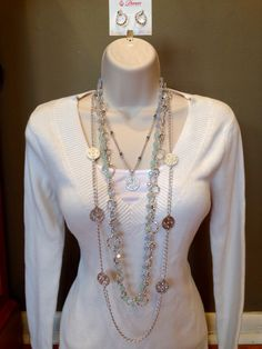 Premier Designs Stunning and Under the Sea necklaces paired together. hannahday.mypremierdesigns.com #pdstyle #pdjewelry