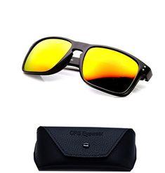 c15123f52528 3033Yllw Premium POLARIZED Retro Turbo Lens Flat Large Sport Casual Driving  Outdoor Mens Sunglasses Yellow