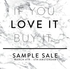 Costes Sample Sale  -- Amsterdam -- 04/03-05/03