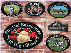 House Signs personalized for your Home. Custom made House Names & Door Numbers in quality outdoor materials. Specialists in V-Groove Engraved Slate Signs, Reflective Signs & Hand Painted Decorative Plaques House Plaques, Slate Signs, House Names, House Signs, Outdoor Material, Coach House, Personalized Signs, House Painting, Numbers