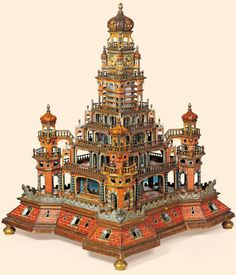 """""""The Grand Castle Rolling Ball Clock"""" Probably South German. Made in the late 17th century."""
