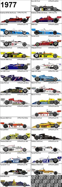 Formula One Grand Prix 1977 Cars