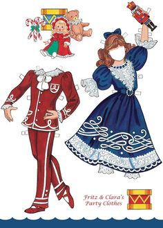 Fritz and Clara Party Clothes from Nutcracker