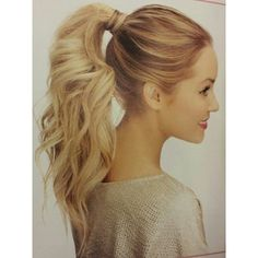 10 Cute Ponytail Ideas Summer and Fall Hairstyles for Long Hair ❤ liked on Polyvore featuring beauty products, haircare, hair styling tools, hair, hairstyles, cabelos, hair styles and beauty