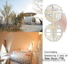 Блочные дома из пенополистирола от компании Японский блочный дом(Japan Dome House Co. Ltd). Кюсю, Япония.