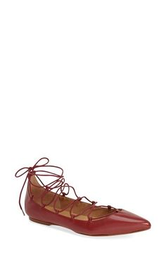 ARRICCI 'Elodie' Lace Up Ghillie Flat (Women) available at #Nordstrom