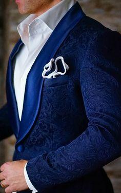 S by Sebastian Dinner Jacket Navy Blue Paisley