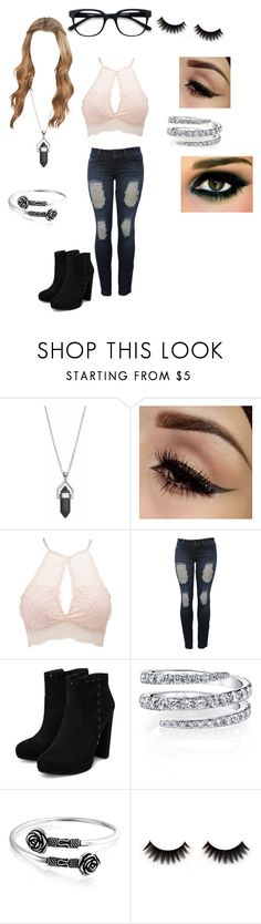 """""""Aphrodite #5"""" by emogirl715 ❤ liked on Polyvore featuring Charlotte Russe, Bling Jewelry and EyeBuyDirect.com"""