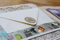 אלבום מסע משפחתי בספר מפות ישן ברלין בסקראפ