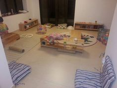 everything is nice and low to the floor for toddlers and babies!