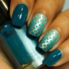 NailaDay: Mermaid nails with Barielle A Bouquet for Ava