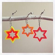 DIY Bügelperlen Anhänger #Stars