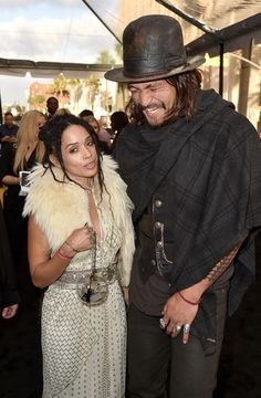 Introducing Mr and Mrs Momoa: Jason Momoa and Lisa Bonet officially married several weeks ago at their home in Topanga, California, according to UsWeekly; seen in 2015 Celebrity Couples, Celebrity Gossip, Celebrity Beauty, Aquaman, Black Celebrities, Celebs, Jason Momoa Lisa Bonet, Game Of Throne Actors, Star Wars