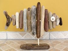 Fish made from driftwood,
