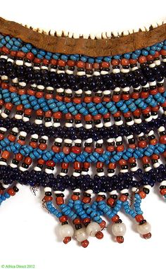 Xhosa Beaded Collar Ingqosha Like Mandelas South Africa - Xhosa - Beadwork