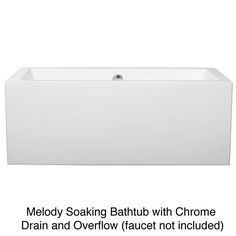 Wyndham Melody Soaking Bathtub - Overstock Shopping - Great Deals on Soaking Tubs