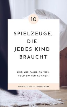 Minimalismus im Kinderzimmer – diese 10 Spielsachen braucht jedes Kind. Was Kind… Minimalism in the nursery – every child needs these 10 toys. What really makes children happy. Less but better in the nursery. Montessori Activities, Infant Activities, Montessori Baby, Family Activities, Diy Crafts To Do, Fun Crafts For Kids, Kids And Parenting, Parenting Hacks, Baby Play