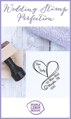Custom wedding address stamps can make your wedding personal and special {at a fraction of the cost of custom printing!}. Use stamps for wedding invitations, thank you notes, showers - the list goes on and on!