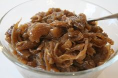 crock pot caramelized onions (3-4 lb.s yellow onions, 2-3 TBSP olive oil/butter, on high for ...
