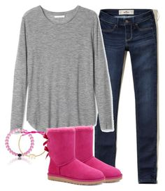 """""""It will be alright"""" by keileeen ❤ liked on Polyvore featuring Hollister Co., Stella & Dot and UGG Australia"""