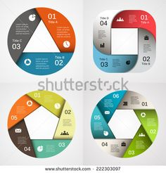 Vector circle infographic. Template for diagram, graph, presentation and chart. Business concept with 3, 4, 5, 6, options, parts, steps or processes. Abstract background.