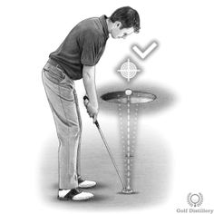 Putting Drill - Try to hit the tee with your ball as if it were a hammer Putting Tips, Golf Putting, Putt Putt, Stick It Out, Golf Tips, Drill, Sink, Drill Press, Hole Punch