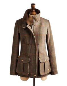 Joules Womens Tweed Jacket, Hardytweed. Set this country sports coat in your sights and capture true country style. Completely timeless, made to last after season. In rugged tweed and complete with all of the functional features and delightful details you've come to know and love. A true Joules classic.