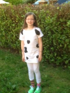 Mum, I need to be dressed like a cow in the morning. Shirt Dress, T Shirt, Cow, Drama, Events, Costumes, Dresses, Fashion, Supreme T Shirt