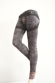 Medieval chainmaille belted printed leggings. I actually own a  pair of these. Awesome design. Skin tight fitting.