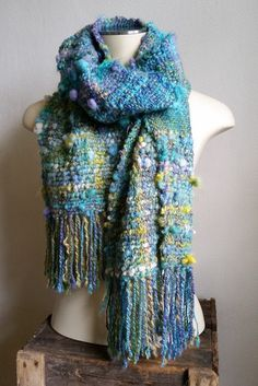 Hey, I found this really awesome Etsy listing at https://www.etsy.com/au/listing/269500154/mermaid-handwoven-artyarn-scarf-by-star