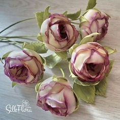 Wonderful Ribbon Embroidery Flowers by Hand Ideas. Enchanting Ribbon Embroidery Flowers by Hand Ideas. Ribbon Embroidery Tutorial, Simple Embroidery, Rose Embroidery, Silk Ribbon Embroidery, Hand Embroidery Patterns, Wafer Paper Flowers, Silk Flowers, Pink Christmas Tree Decorations, Fabric Roses
